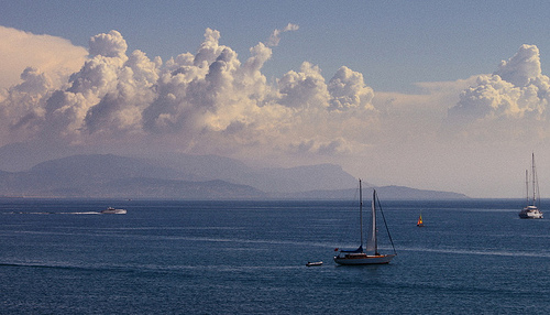 French Riviera - Blue from Antibes by ribo26