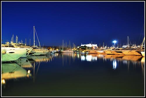 Antibes Harbour by Beriadan