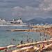 La plage bien remplie de Cannes par lucbus - Cannes 06400 Alpes-Maritimes Provence France