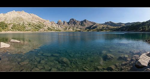 Lac d'Allos et les Grandes Tours par oliviervallouise