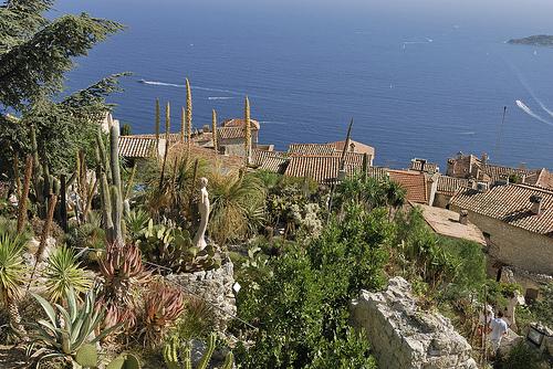 Vue sur la côte depuis le village d'Eze by pizzichiniclaudio