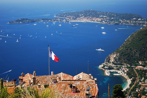 Panorama - The view from Jardin Exotique in Eze - Eze, Alpes ...