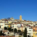 Le village de Gattières et son clocher par bernard.bonifassi - Gattieres 06510 Alpes-Maritimes Provence France