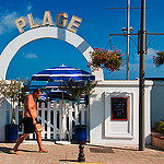 Plage - French riviera by  - Cagnes sur Mer  Alpes-Maritimes Provence France