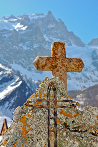 Croix de La Grave... et le massif de la Meije par Titi92.