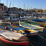 Beautiful colored French fishing boats par  - Nice 06000 Alpes-Maritimes Provence France