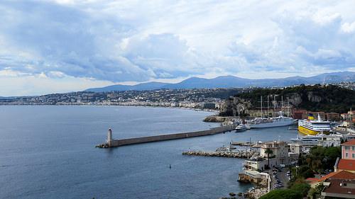 La Baie des Anges : vue du front de mer de Nice by bernard.bonifassi
