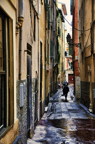 Old Town Alley, Nice, Côte d'Azur by marty_pinker