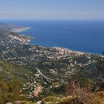Rivage méditerranéen - vu du Mont-Agel par Charlottess - Peille 06440 Alpes-Maritimes Provence France