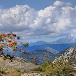 Vue du Mont-Agel vers les Alpes by  - Peille 06440 Alpes-Maritimes Provence France
