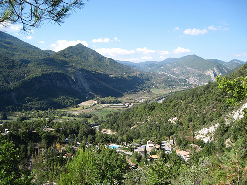 The Var river between Puget-Thénier and Entrevaux by Sokleine