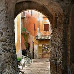 Escalier ruelle - Roquebrune par Charlottess - Roquebrune Cap Martin 06190 Alpes-Maritimes Provence France