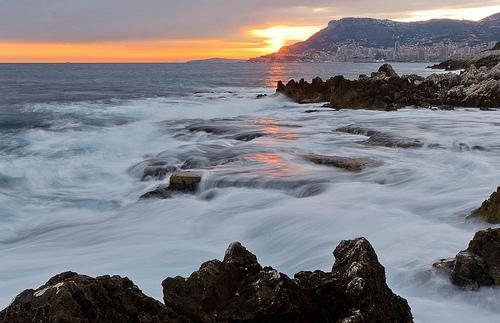 Cap Martin au coucher du soleil by jdufrenoy