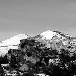Village de Thiery sous la neige par bernard BONIFASSI - Thiery 06710 Alpes-Maritimes Provence France