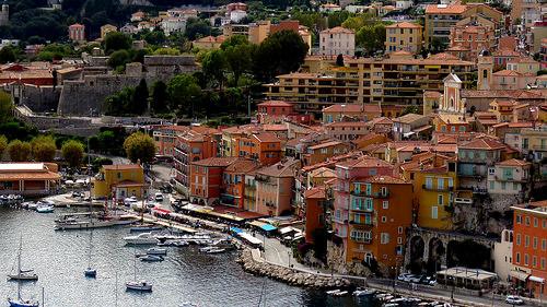 Les immeubles ocre de Villefranche sur Mer par bernard.bonifassi