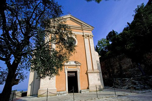 Èze church and olive tree by skyduster4
