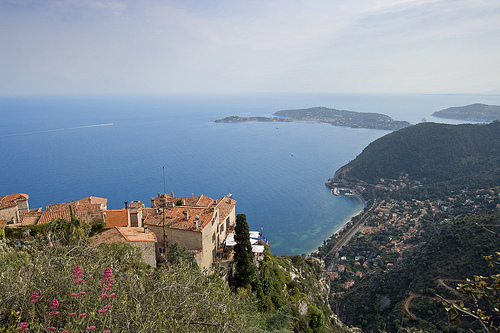 Seascape - View of Èze and Mediterranean Sea by skyduster4
