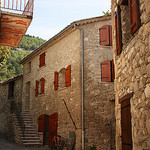 Old houses in Annot village by Sokleine - Annot 04240 Alpes-de-Haute-Provence Provence France