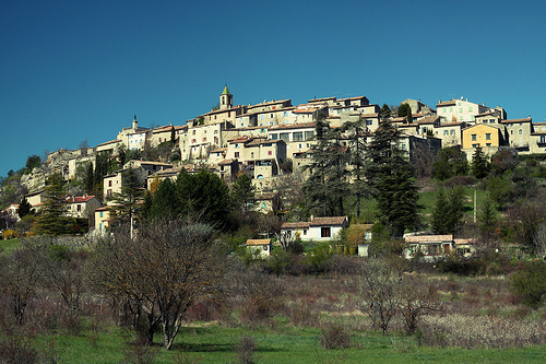 Medieval village by confuzzyus