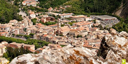 Les toits de la Ville de Digne-les-Bains par solo-graphique
