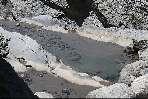 Les cascades de Digne les Bains en août : ça manque d'eau ! par Sebmanstar
