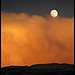 Pleine lune orange par Michel-Delli - Digne les Bains 04000 Alpes-de-Haute-Provence Provence France