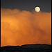 Pleine lune orangée by Michel-Delli - Digne les Bains 04000 Alpes-de-Haute-Provence Provence France