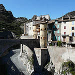 Pont sur le Var by  - Entrevaux 04320 Alpes-de-Haute-Provence Provence France