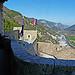 La citadelle d'Entrevaux : Vue du haut du donjon par  - Entrevaux 04320 Alpes-de-Haute-Provence Provence France