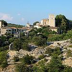 Le village accroché d'Esparron du Verdon par Tinou61 - Esparron de Verdon 04800 Alpes-de-Haute-Provence Provence France