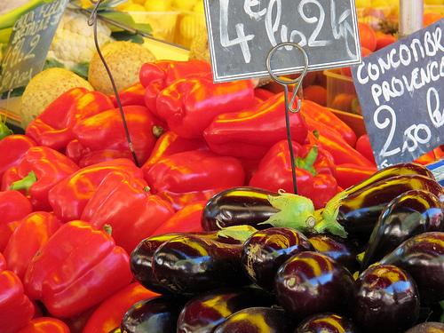 Glowing colorful vegetables par Qtune