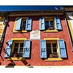 Façades colorées de Gréoux by Olivier Faugeras - Greoux les Bains 04800 Alpes-de-Haute-Provence Provence France