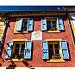 Façades colorées de Gréoux par Olivier Faugeras - Greoux les Bains 04800 Alpes-de-Haute-Provence Provence France