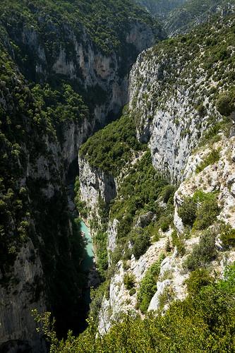 Les gorges du Verdon - vue plongeante by Mario Graziano