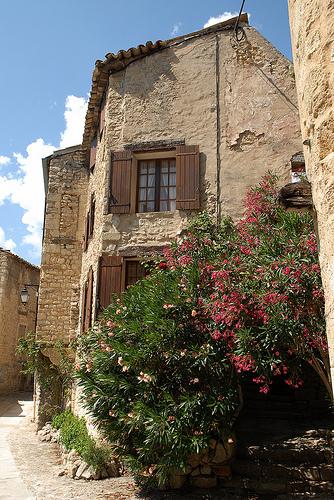 Maisons dans le village de Lurs en Haute-Provence par Michel Seguret