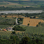 La vallée de la Durance et ses champs vue de Lurs par Michel Seguret - Lurs 04700 Alpes-de-Haute-Provence Provence France