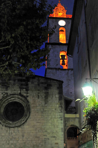 Manosque by night, Eglise St Sauveur par Patrick.Raymond