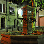 Manosque by night - Fountain by  - Manosque 04100 Alpes-de-Haute-Provence Provence France