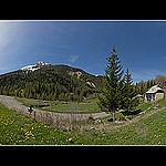 Le vallon du Laverq, l'église Saint-Antoine et l'ancienne Abbaye du Laverq par  - Meolans Revel 04340 Alpes-de-Haute-Provence Provence France