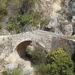 Petit pont de pierre à Moustiers Sainte Marie - by JF by Hélène_D - Moustiers Ste. Marie 04360 Alpes-de-Haute-Provence Provence France