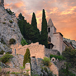 Chapelle Notre-Dame de Beauvoir par erwinberrier - Moustiers Ste. Marie 04360 Alpes-de-Haute-Provence Provence France