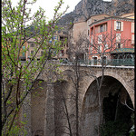 Moustier : pont par Sylvia Andreu - Moustiers Ste. Marie 04360 Alpes-de-Haute-Provence Provence France