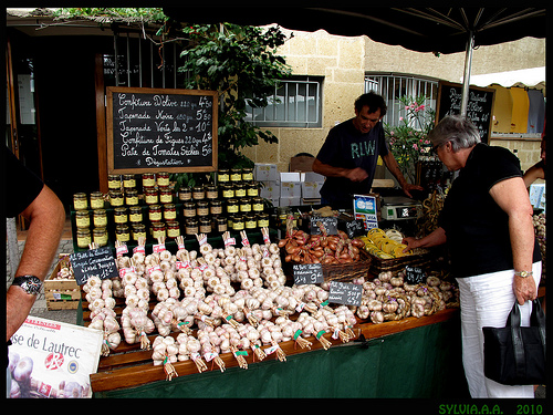 Marché Provençal à Moustier par Sylvia Andreu
