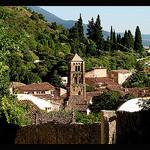 Clocher de Moustier Sainte Marie par Sylvia Andreu - Moustiers Ste. Marie 04360 Alpes-de-Haute-Provence Provence France