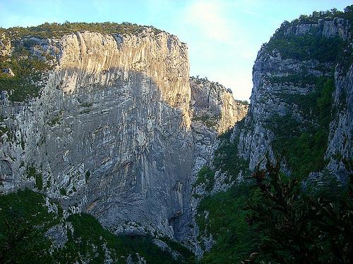 Gorges du Verdon : Le couloir Samson, vu du Point-Sublime par nosilvio