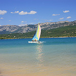 Catamaran - The lake of Sainte Croix par  - Sainte Croix du Verdon 04500 Alpes-de-Haute-Provence Provence France