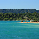 Intense Blue & Green - The lake of Sainte Croix by Carine.C - Sainte Croix du Verdon 04500 Var Provence France