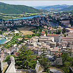 Vue sur Sisteron et sa valle du haut de la citadelle by  - Sisteron 04200 Alpes-de-Haute-Provence Provence France