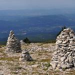 Cairns au sommet de Lure by  - St. Etienne les Orgues 04230 Alpes-de-Haute-Provence Provence France