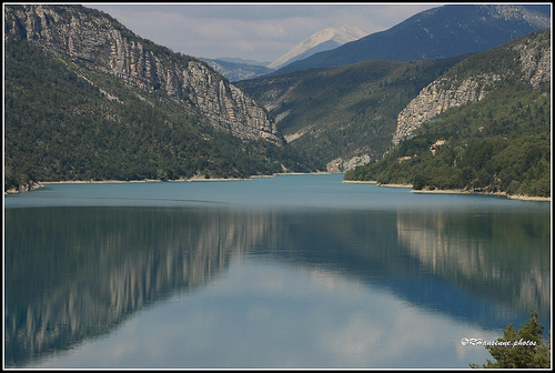 Le mirroir du lac de Castillon by Rhansenne.photos